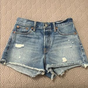 Distressed Levi Shorts